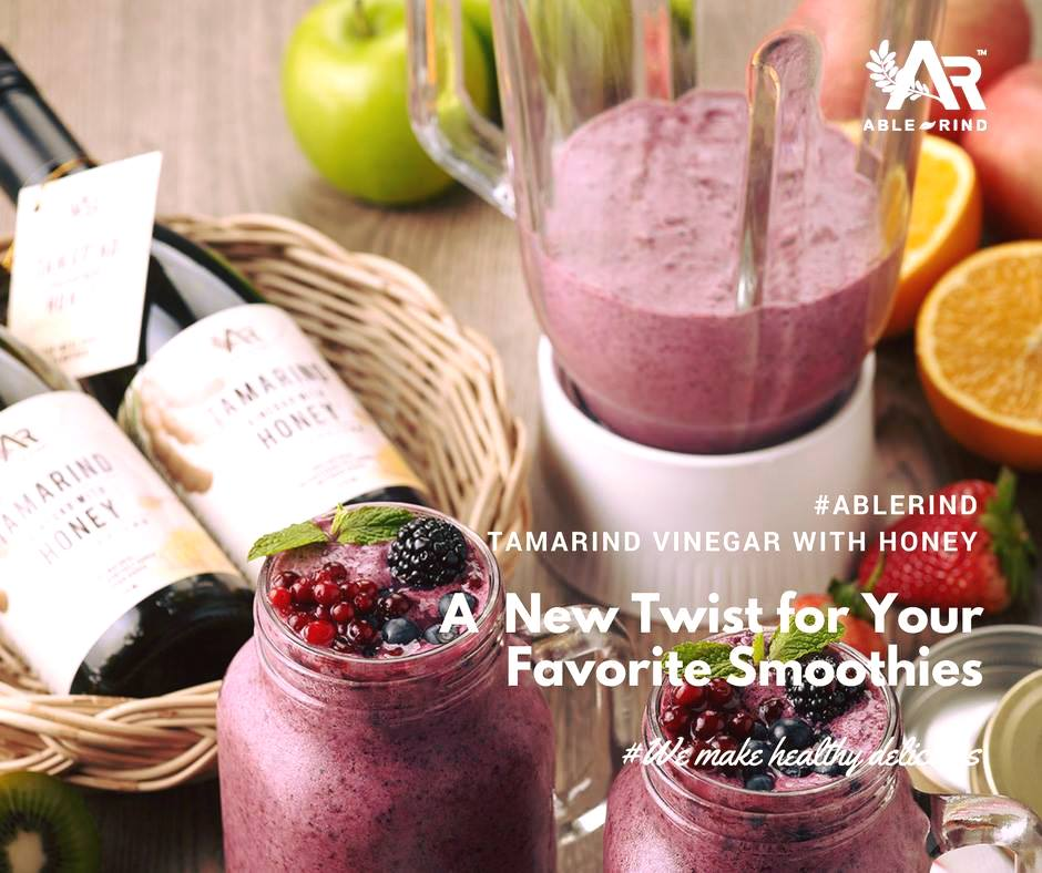 Ablerind fruit smoothie recipe using tamarind vinegar